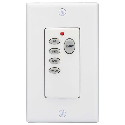 Image Of Ceiling Fan Remote Wall Control Switch -  On / Off -  Light Dimmer And Fan Speed Control - White Finish - Harney Hardware