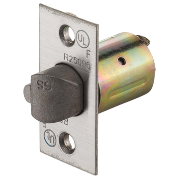 Image Of Commercial UL Entry / Classroom / Storeroom Latch 2 3/8 In. Backset - Satin Stainless Steel Finish - Harney Hardware