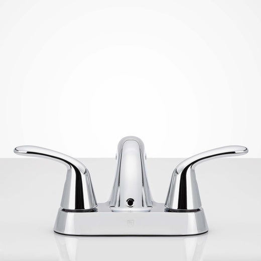 Image Of Center Set Bathroom Sink Faucet -  4 In. Wide - Chrome Finish - Harney Hardware