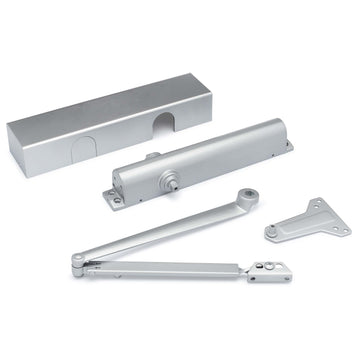 Image Of Commercial Door Closer -  ANSI 1 -  UL Fire Rated -  ADA Compliant -  1-6 - Powder Coated Aluminum Finish - Harney Hardware