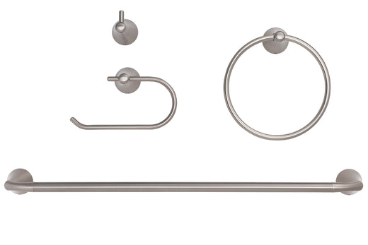 Image Of Duval Bathroom Hardware Set - Satin Nickel Finish - Harney Hardware