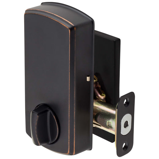 Image Of Electronic Keyless Deadbolt -  Square Escutcheon - Venetian Bronze Finish - Harney Hardware