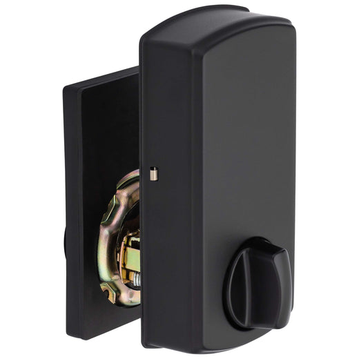 Image Of Electronic Keyless Deadbolt -  Square Escutcheon - Matte Black Finish - Harney Hardware