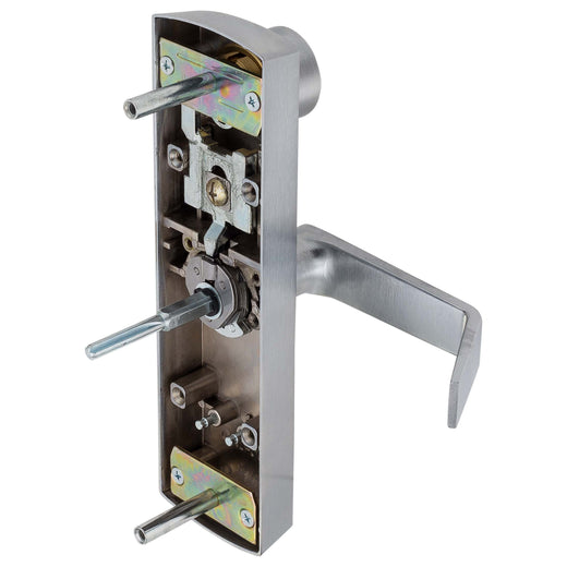Image Of Panic Exit Device Classroom / Keyed Function Escutcheon Lever Trim - Satin Chrome Finish - Harney Hardware