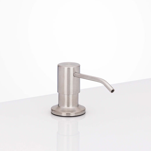 Image Of Kitchen Faucet Soap Dispenser -  10 5/8 In. High - Satin Stainless Steel Finish - Harney Hardware