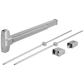 Image Of Vertical Rod Exit Device -  UL Fire Rated -  ANSI 1 -  32 In. X 84 In. - Powder Coated Aluminum Finish - Harney Hardware