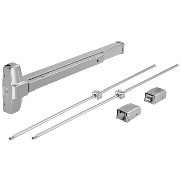 Image Of Vertical Rod Exit Device -  UL Panic Rated -  ANSI 1 -  32 In. X 84 In. - Powder Coated Aluminum Finish - Harney Hardware