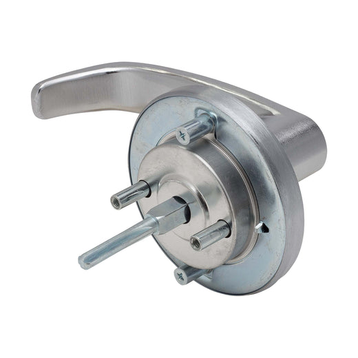 Image Of Panic Exit Device Classroom / Keyed Function Lever Trim - Satin Chrome Finish - Harney Hardware