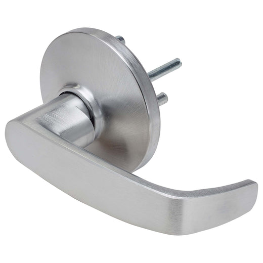 Image Of Panic Exit Device Passage / Hallway Function Lever Trim - Satin Chrome Finish - Harney Hardware