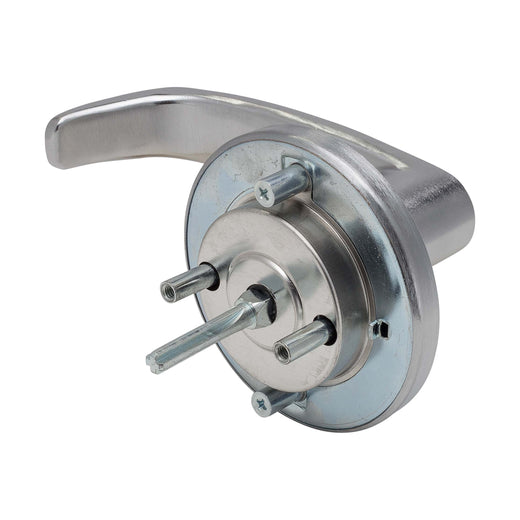 Image Of Panic Exit Device Storeroom / Keyed Function Lever Trim - Satin Chrome Finish - Harney Hardware
