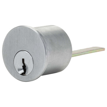 Image Of Panic Exit Device SC1 Lock Cylinder For Narrow Stile / Cross Bar Devices - Powder Coated Aluminum Finish - Harney Hardware