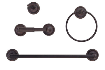 Image Of Portsmouth Venetian Bronze Bathroom Hardware Set - Venetian Bronze Finish - Harney Hardware