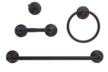 Image Of Savannah Venetian Bronze Bathroom Hardware Set - Venetian Bronze Finish - Harney Hardware