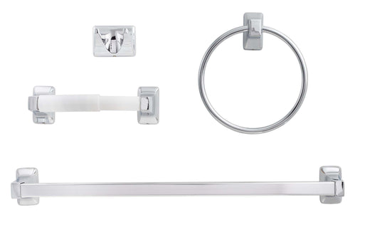 Image Of Sea Breeze Chrome Bathroom Hardware Set - Chrome Finish - Harney Hardware