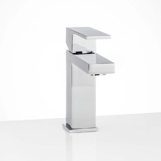 Image Of Single Hole Contemporary / Modern Bathroom Sink Faucet -  7 In. High -  Westshore - Chrome Finish - Harney Hardware