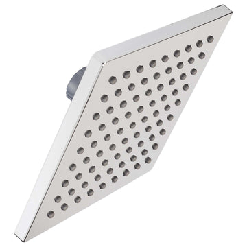 Image Of Shower Head -  Single Function -  6 In. Square -  ABS Plastic - Chrome Finish - Harney Hardware