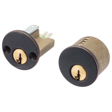 Image Of Schlage 5 Pin Keyway For Double Cylinder Deadbolts - Venetian Bronze Finish - Harney Hardware