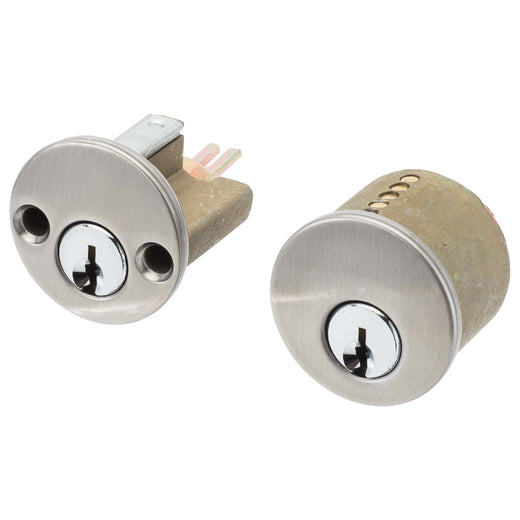 Image Of Schlage 5 Pin Keyway For Double Cylinder Deadbolts - Satin Nickel Finish - Harney Hardware