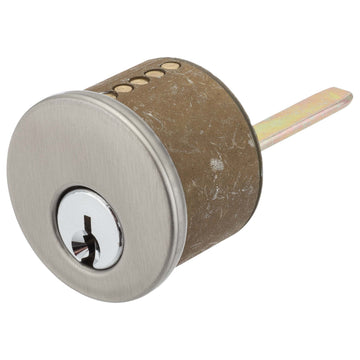 Image Of Schlage 5 Pin Keyway For Single Cylinder Cont Deadbolts - Satin Nickel Finish - Harney Hardware