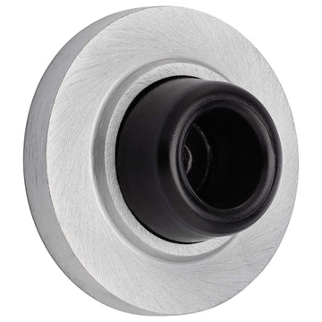 Image Of Wall Stop -  Concave -  2 1/8 In. Diameter - Satin Chrome Finish - Harney Hardware