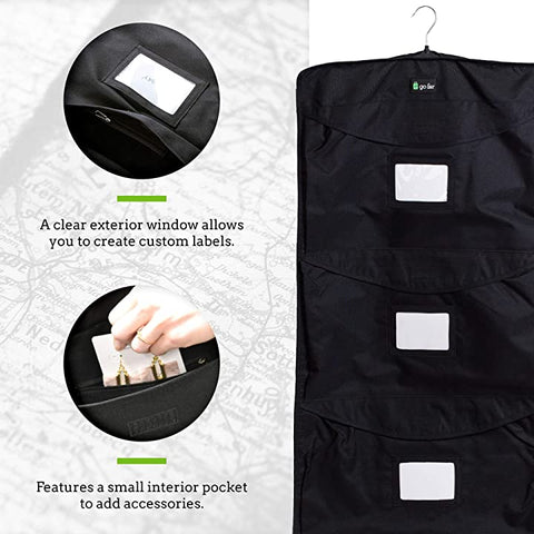 Go Far 5 Day Organizer- Hanging Garment Bag and Packing Cube in One!