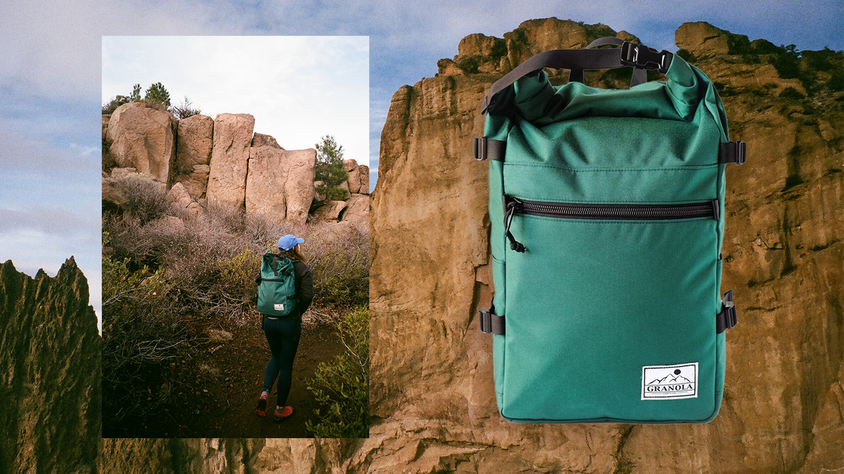 The Granola Roll Top Pack is designed for climbing, hiking, outdoor and urban recreation alike. Responsibly made in USA.