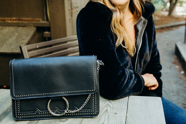 Ring and Stud Crossbody