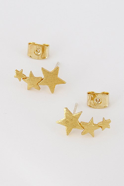 Star Crawler Stud Earrings