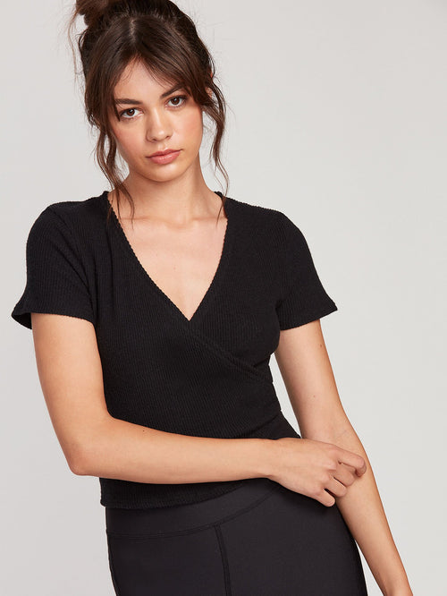 Lived In Lounge Short Sleeve Wrap Top