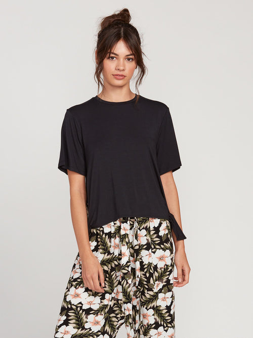 Coco x Volcom Short Sleeve Tied Top