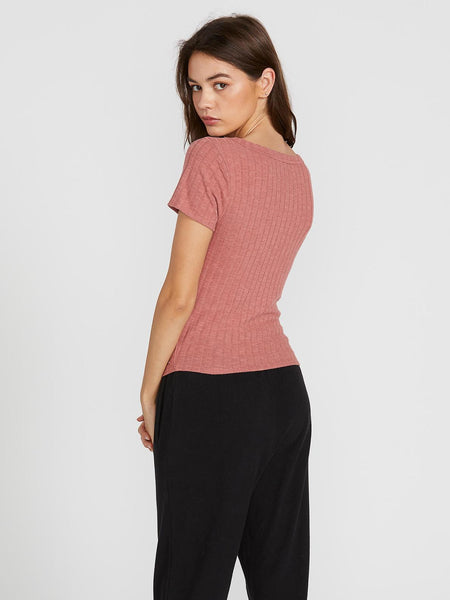 Lived In Lounge V Neck Short Sleeve Top