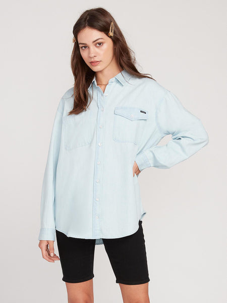 Island Times Button Up Top