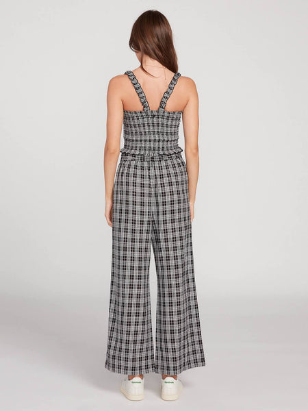 Have Another Plaid High Waisted Wide Leg Pant