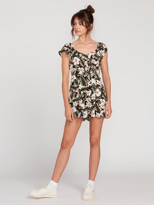 Coco x Volcom Short Sleeve Floral Romper