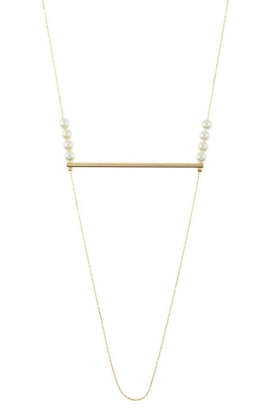 Pearl and Bar Necklace
