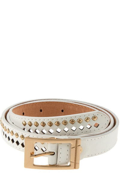 Studded Cutout Belt