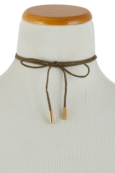 Wrap Around Suede Choker
