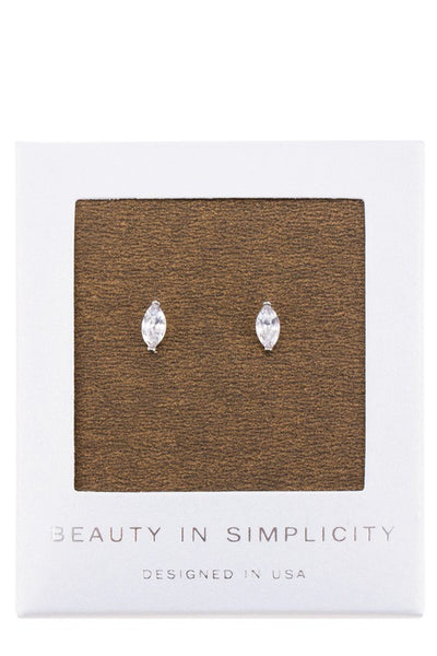 Marquise Stud Earrings