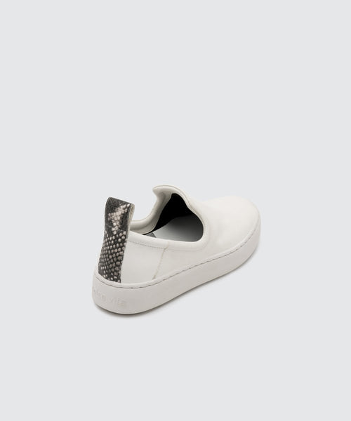 TAG White Leather Sneakers