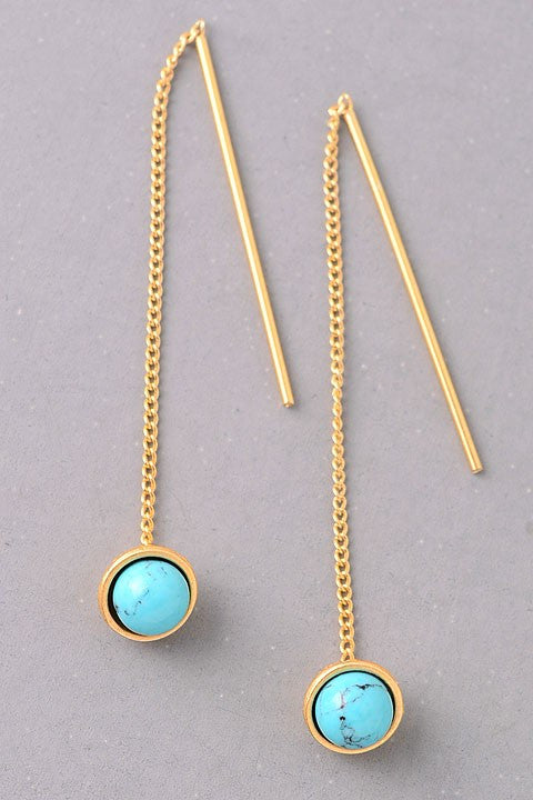 Turquoise Threader Earrings