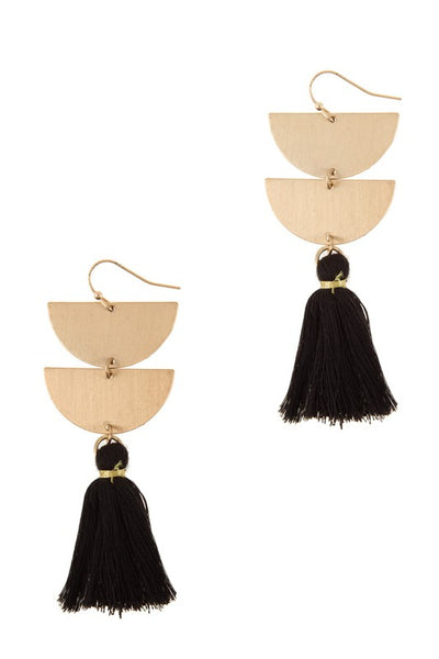 Half Circle Tassel Earrings