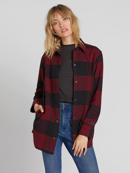 Untamed Feels Plaid Top