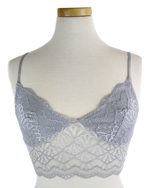 Lace Bra with Center Strap