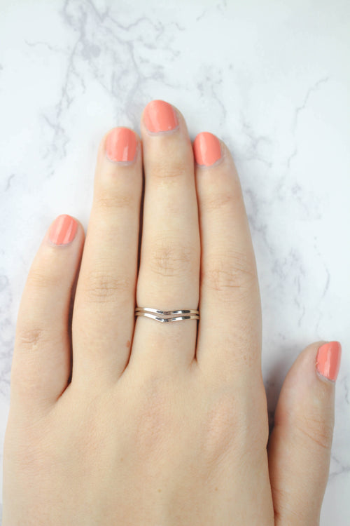 Double Band Chevron Ring