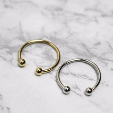 Open Barbell Midi Ring