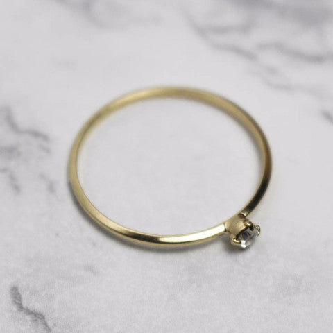 Delicate Band with Diamond