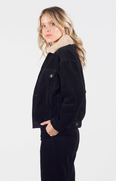 Teegan Corderoy Faux Fur Jacket