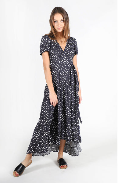 Wild Hearts Printed Wrap Dress
