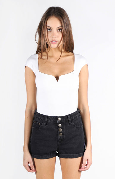 Faye Square Neck V Bodysuit