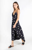 Terra Buttoned Floral Midi Dress